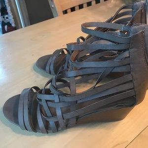 Lane Bryant Gladiator Taupe 12W Strap Ankle Sandle